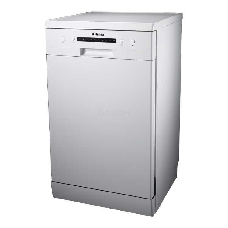Узкая посудомоечная машина Hansa ZWM 416 WH для установки на полу в классическом белом стиле