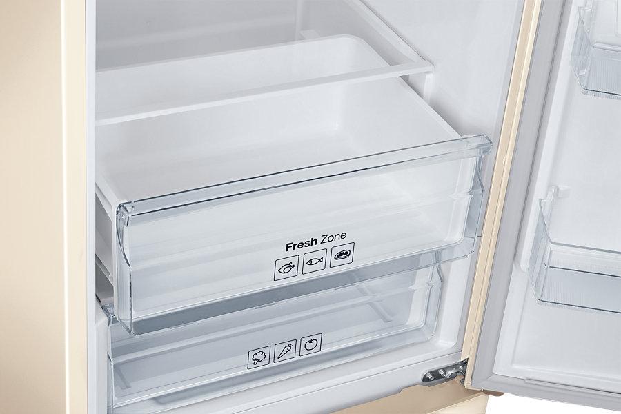 Обзор двух лотков зоны свежести холодильника Сименс модели RB-37 J5240EF с нижней морозильной камерой
