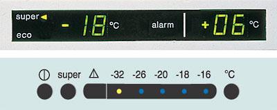 Электронный дисплей и панель задач для регулировки температурного режима в бытовых холодильниках
