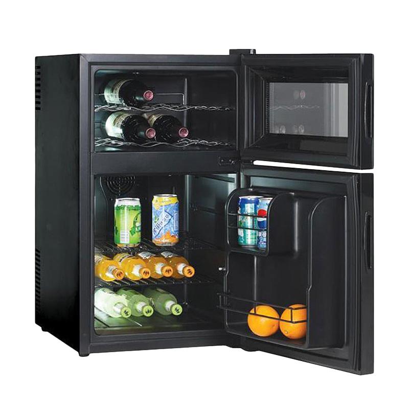 Мини холодильник Gastrorag BCWH-68 с двумя камерами для хранения вин и других напитков разных форм