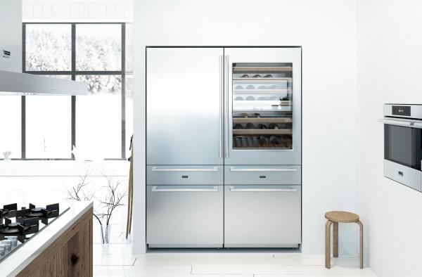 Модель комбинированного холодильника Аско для большой современной кухни с шестью камерами