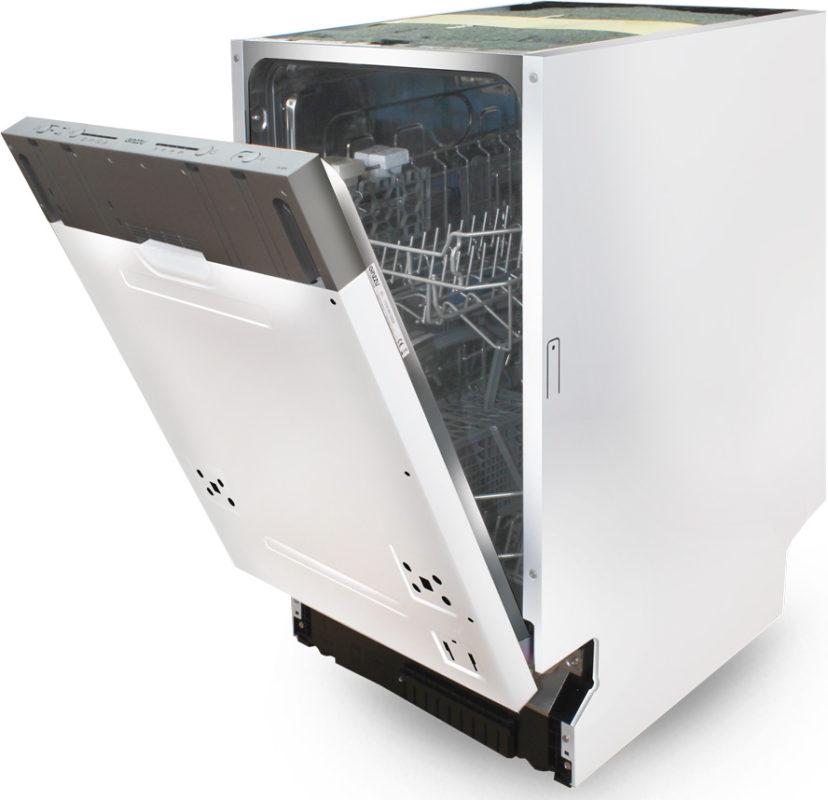 Полновстраиваемая модель посудомоечной машины с возможностью крепления собственного фасада