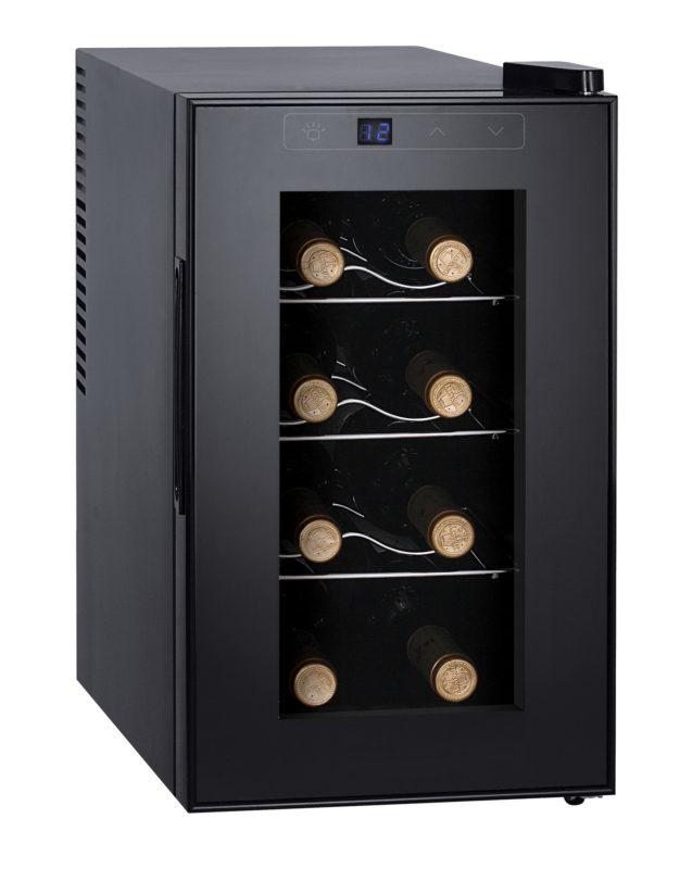 Винный шкаф Gemlux GL-WC-8W для хранения восьми винных бутылок с прозрачным стеклом на дверце