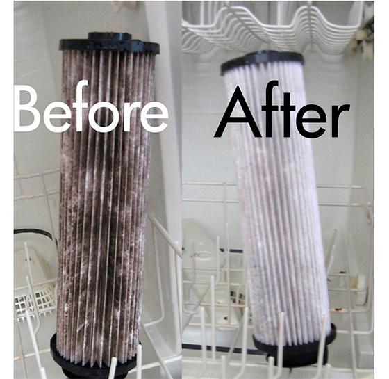 Вентиляционные фильтры и решетки для вытяжки также можно отмыть в посудомоечной машине