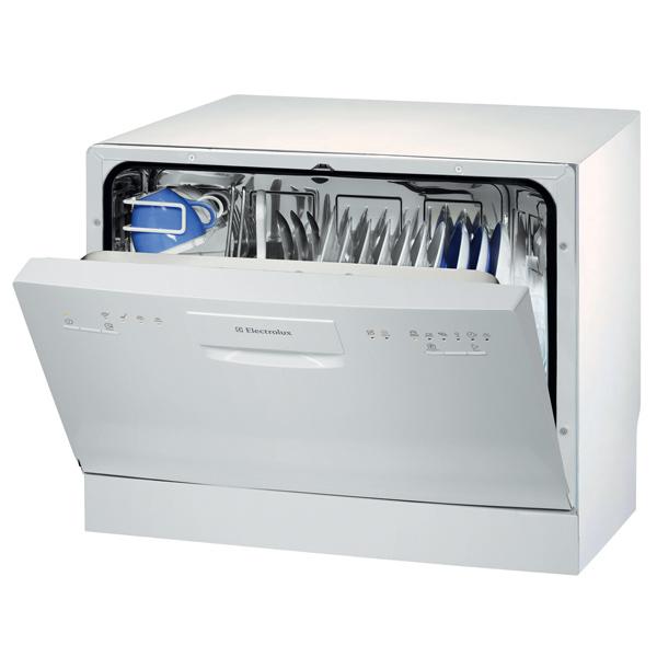 Компактная посудомоечная машина для малогабаритной кухни с установкой на столешнице гарнитура