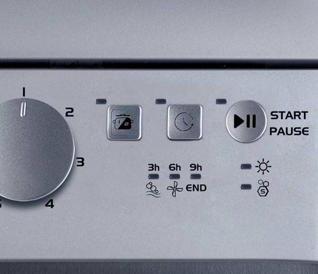 В посудомоечных машинах компании Индезит присутствует функция отсрочки старта мойки посуды