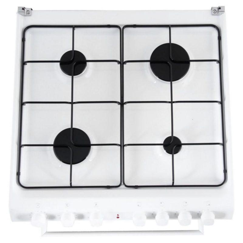 Газовая плита комбинированной модели Candy TRIO9501W с двумя большими, одной средней и маленькой комфорками