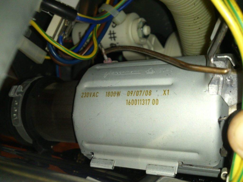 Отключение для диагностирования нагревательного элемента посудомоечной машины если она не сушит
