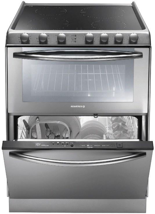Компбинированная модель Candy TRIO9503X с электрической плитой, духовкой и посудомоечной машиной