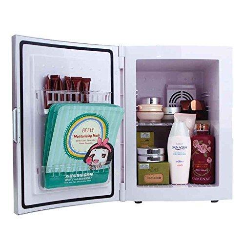 Удобный настольных холодильник для хранения косметических средств с удобными полочками на дверце