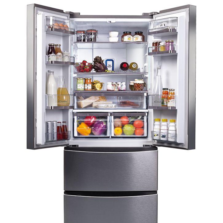 Модель трехкамерного холодильника Канди с основным отделением с двумя распашными дверцами