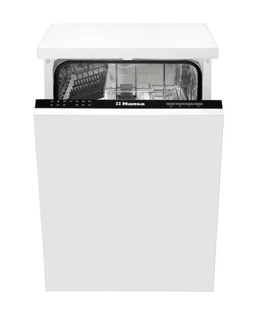 Узкая посудомоечная машина Hansa ZIM 476 H с режимом турбосушки для эффективного режима мытья