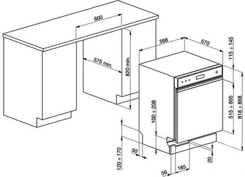 Пример снятия размеров и подготовки места под установку встраиваемой посудомоечной машины