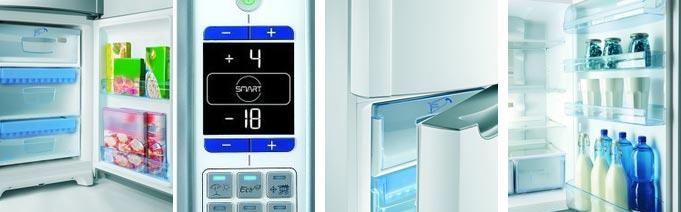 В холодильниках компании Идезит электронное управление температурным режимом и дополнительные отделения на дверцах