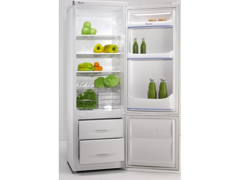 Простой классический двухкамерный холодильник линии Evergreen от производителя Ардо в белом цвете