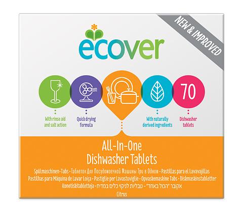 Бельгийская компания выпускает безвредные моющие средства Ecover для посудомоечных машин