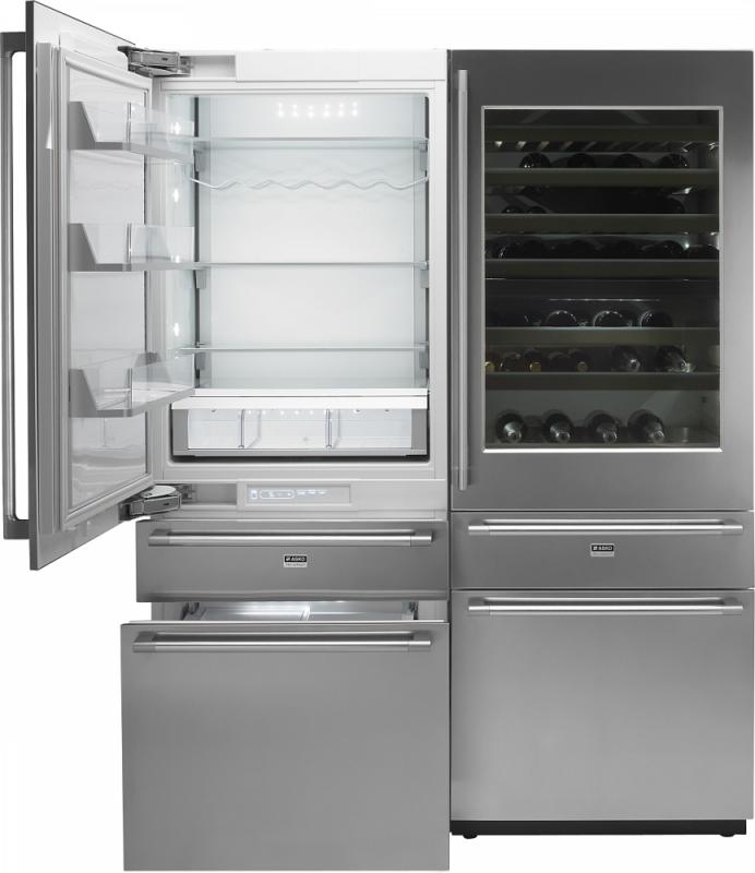 Модель комбинированного холодильника RF2826S с холодильных отделением для хранения вина и напитков