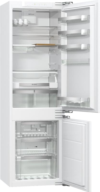 Двухкамерный холодильник Аско RFN2274I с нижним морозильным отделением в классическом белом цвете