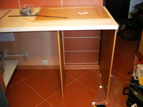 Конструирование декоративной столешницы для последующего встраивания под нее посудомоечной машины