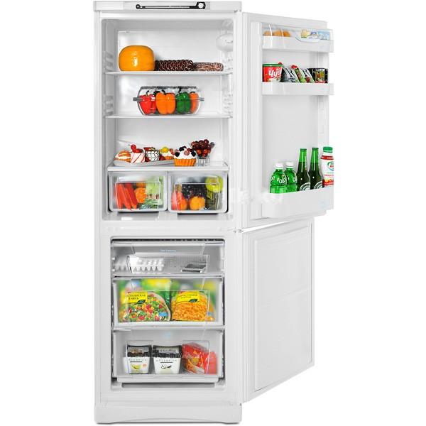 Обзор двухкамерного холодильника SB 167 от компании Индезит с тремя полками на дверце модели