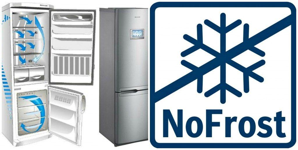 Технология Ноу Фрост по типу охлаждения ценится за счет постоянного циркулирования холодного воздуха