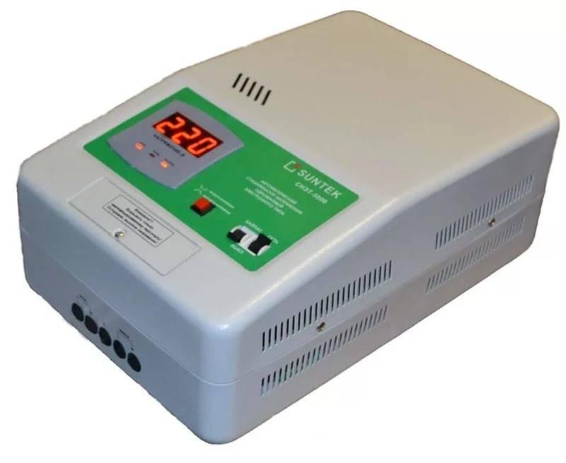 При подключении посудомоечной машины и других приборов подойдет стабилизатор Suntek SK2 RL11000