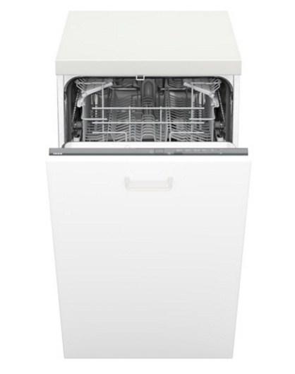 Узкая встраиваемая модель HÄLPSAM/ЭЛЬПСАМ обеспечивает хорошее мытье при 5 моечных циклах