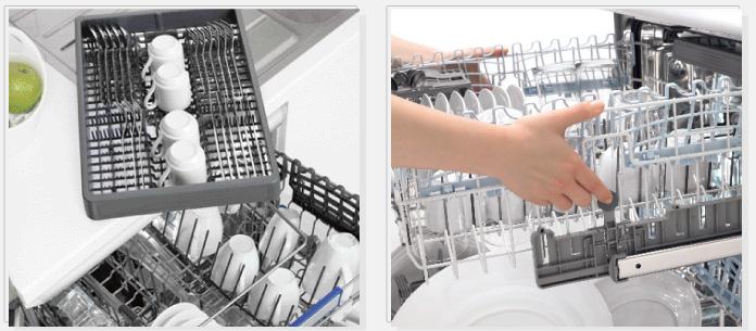 В некоторых моделях Беко увеличен диаметр загружаемой посуды