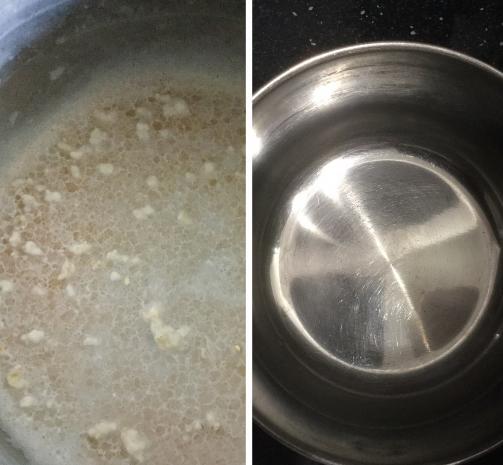 «Паклан Брилео» легко отмывает даже проблемные участки посуды