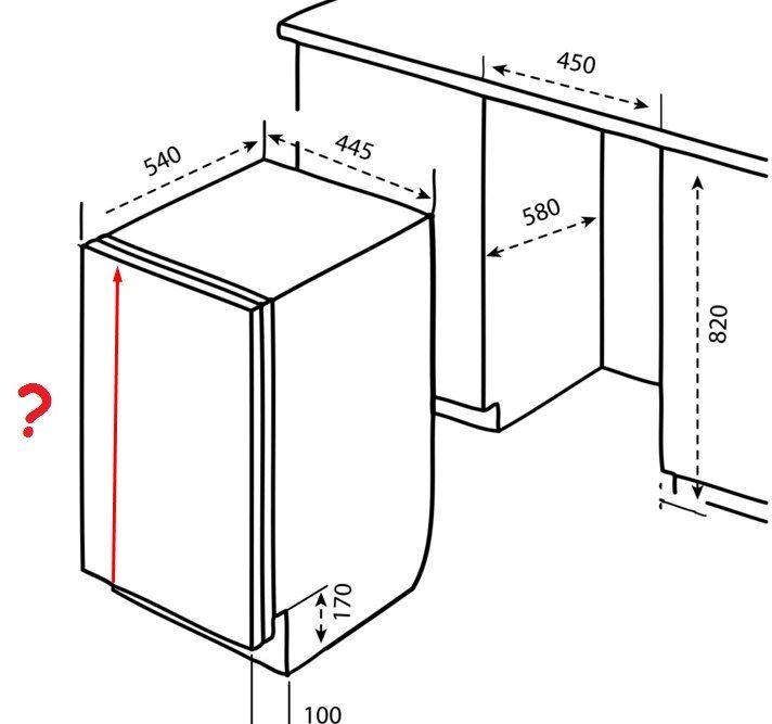 Точная разметка размеров играет важную роль при монтаже посудомоечной машины