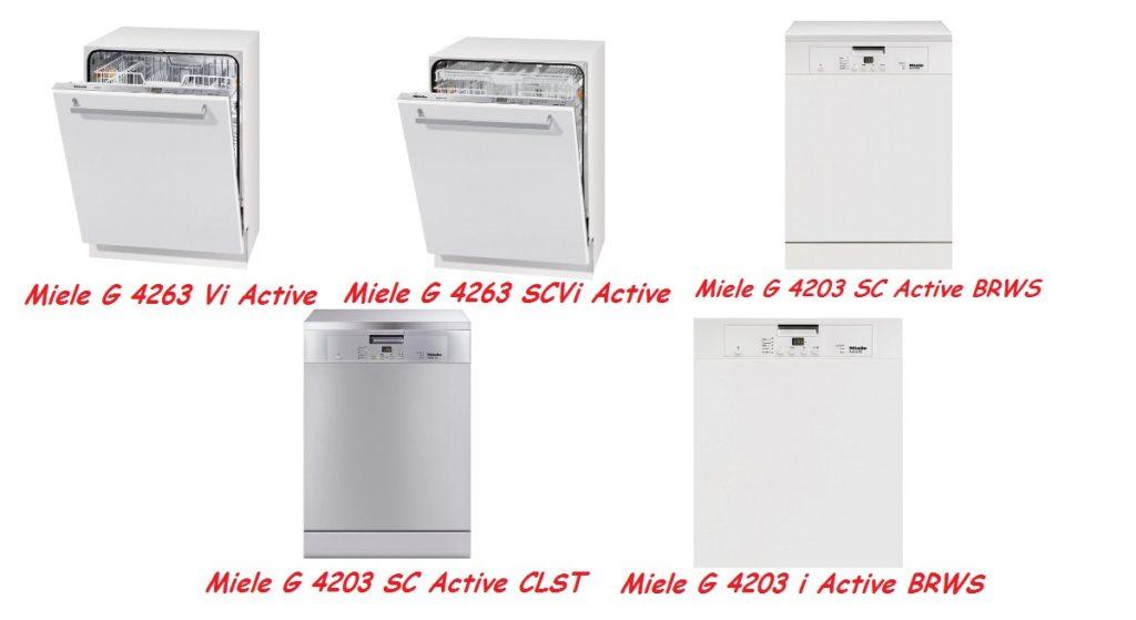 Линейка разнообразных моделей посудомоечных машин Miele