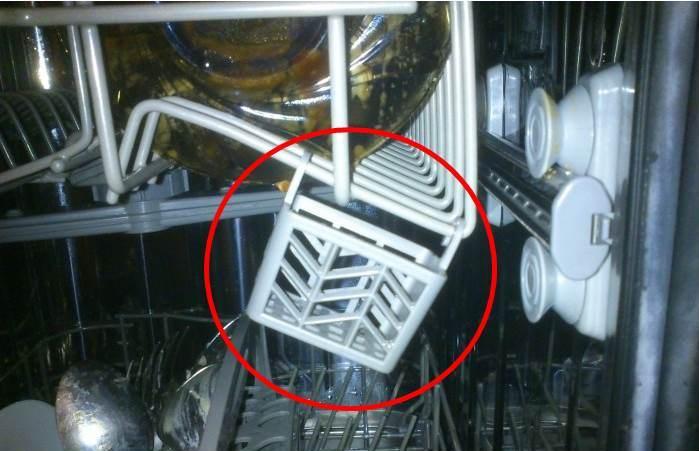 В ранних моделях посудомоечных машин была предусмотрена корзина для моющих средств