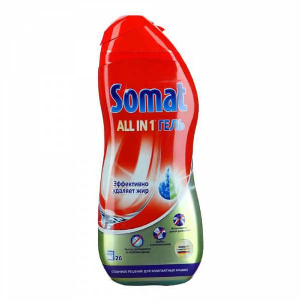 Гель Somat легко справляется с жирным налетом и очищает фильтр