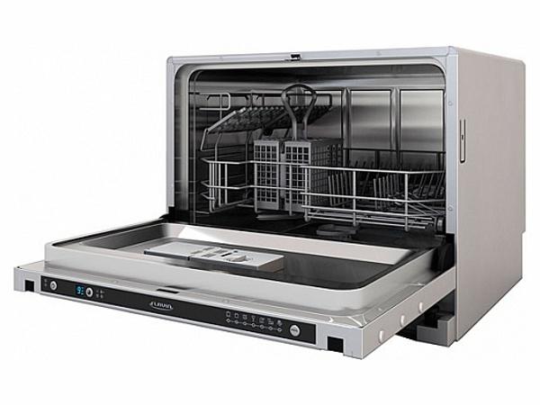 Компактная посудомоечная машина Flavia CI 55 HAVANA для размещения на столешнице гарнитура