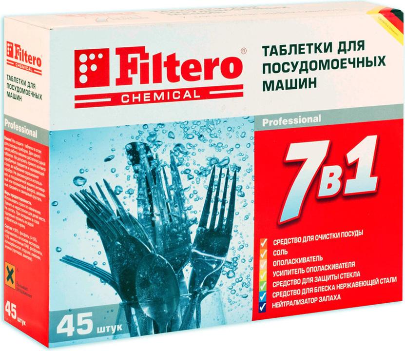 Немецкое средство Filtero рекомендуется применять в брендовых посудомоечных машинах