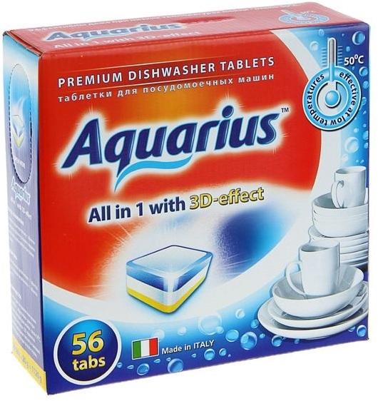 Таблетки средства Aquarius хорошо действуют даже в холодной воде