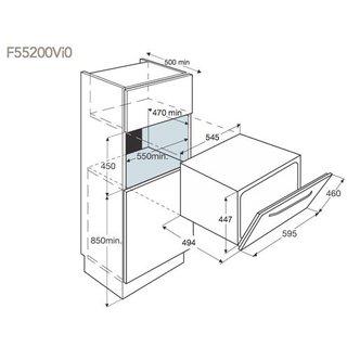 Габариты для встраивания ПММ AEG F 55200 VI