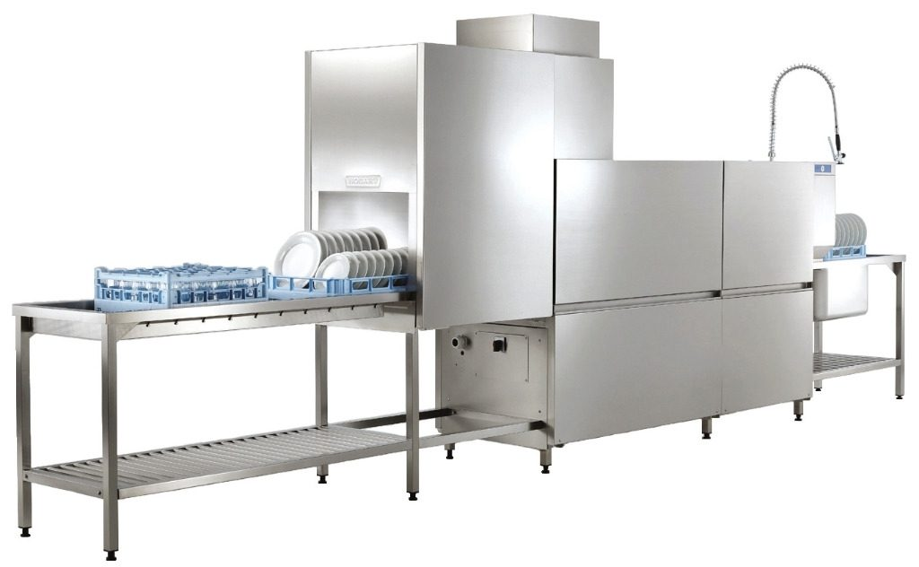 ПММ Profi CN вымывает огромное количество корзин посуды с основной и предварительной мойкой и двойным ополаскиванием
