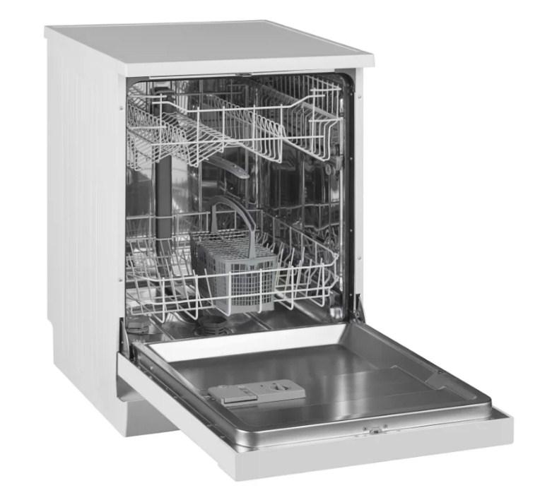Вместительный бункер полногабаритной посудомоечной машины Вестел VDWTC 6031 W