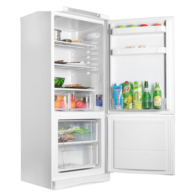 Широкий двухкамерный холодильник Индезит SB 15040 с нижней морозилкой и большим отделением на дверце