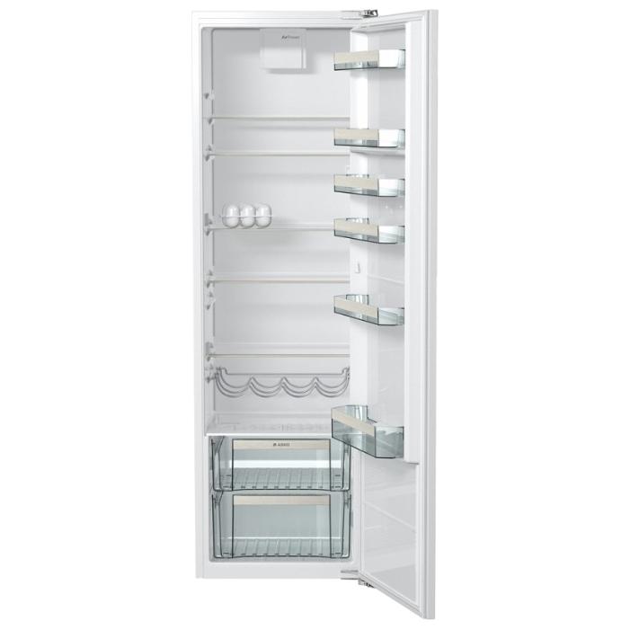 Модель встраиваемого холодильника Аско R21183I с единой дверцей для холодильного и морозильного отсека
