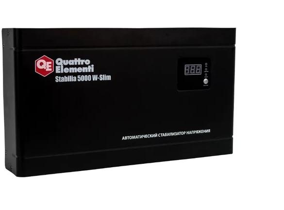 Автоматический стабилизатор напряжения релейного типа Quattro Elementi Stabilia 5000 W-Slim 640-544