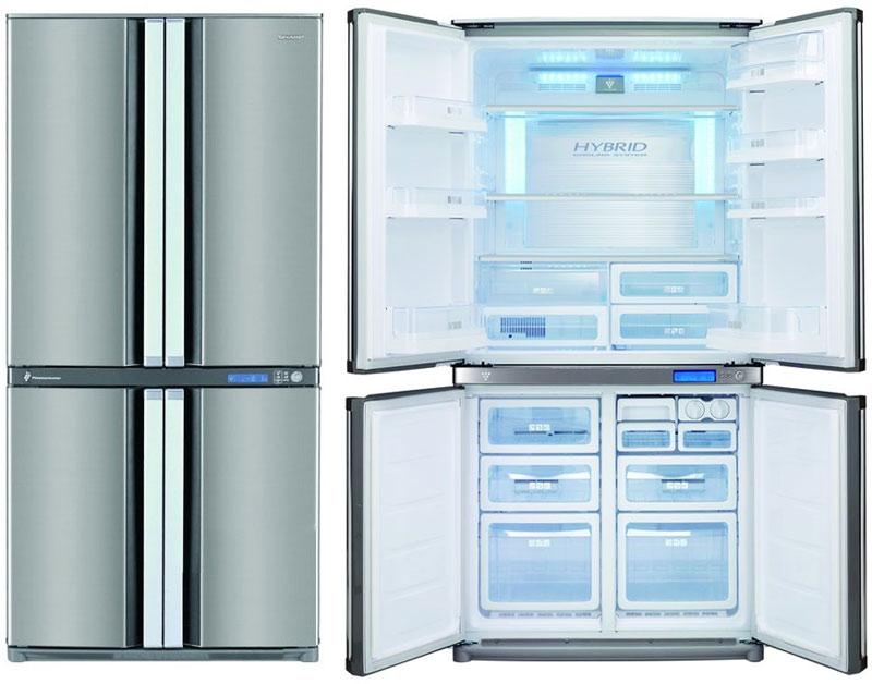 Холодильники Шарп с системой No Frost и зоной свежести.