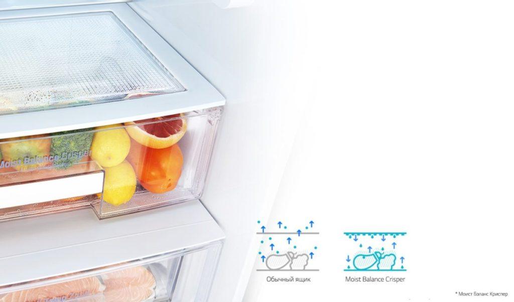 Крышка ящика для овощей Moist Balance Crisper