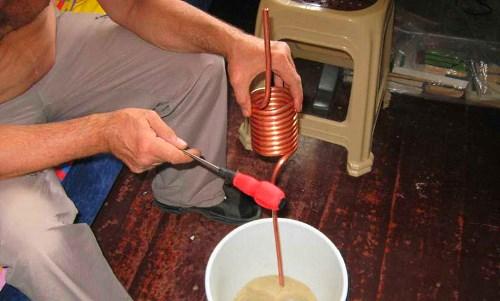 Изготовление теплообменной спирали