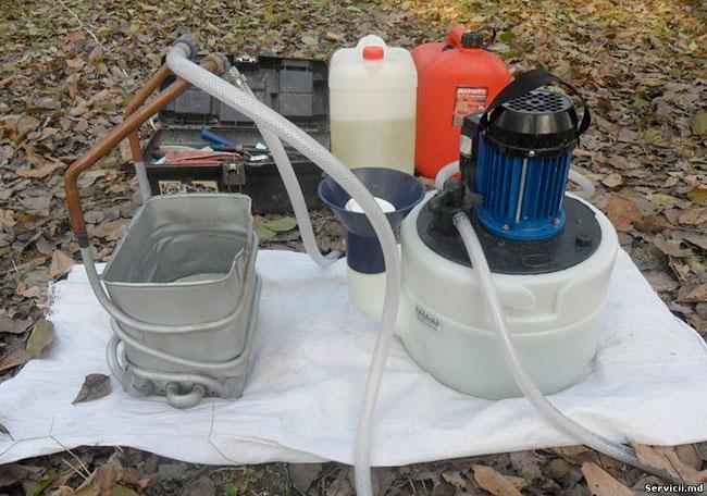 Промывка теплообменника раствором кислоты