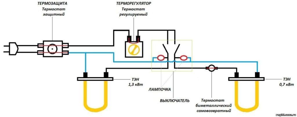 Электросхема проточника