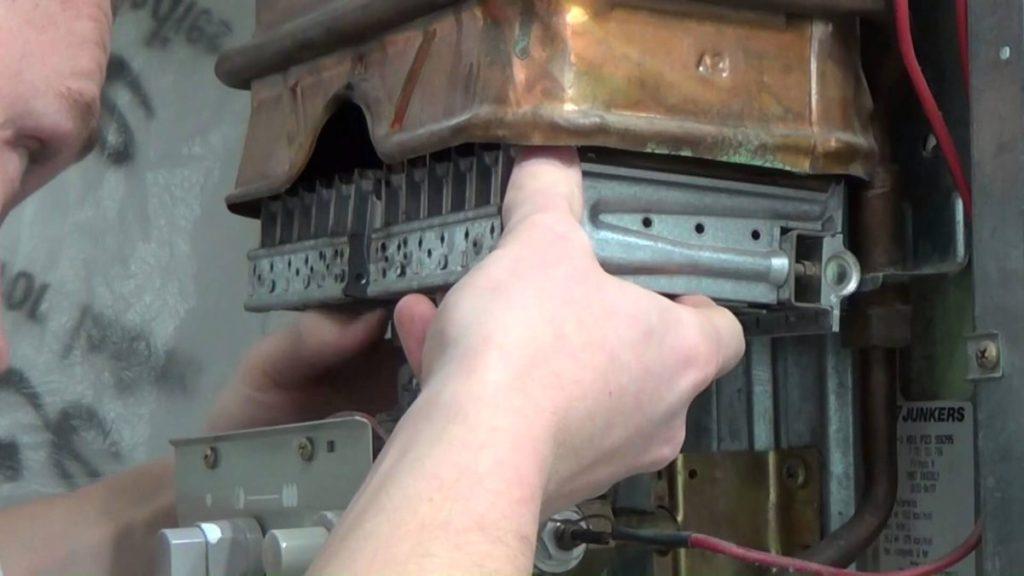 Процесс демонтажа теплообменника