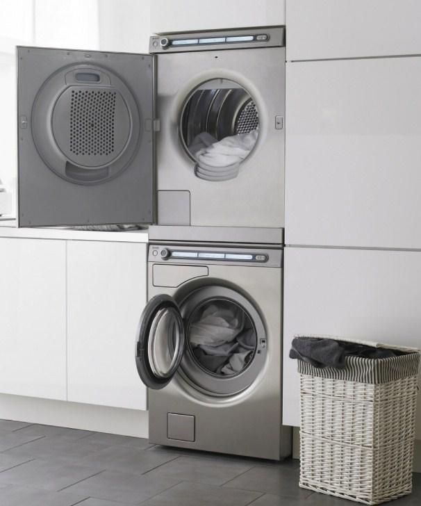 Сушильная и стиральная машины в тандеме
