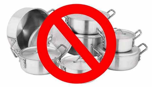 Использование металлической посуды запрещено